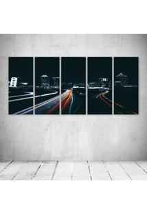 Quadro Decorativo - Architecture24 - Composto De 5 Quadros - Multicolorido - Dafiti