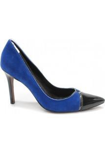 Scarpin Zariff Concept - Feminino-Azul+Preto