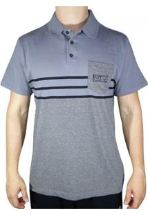 Camisa Polo Element Lines - Masculino-Cinza