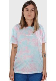 Camiseta Hurano Tie Dye Stay Positive Rosa/Azul