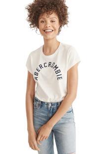 Camiseta Manga Curta Abercrombie Gráfica Off White