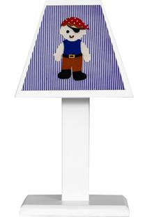 Abajur Piratinha Mdf - Azul Marinho - Marinheiro