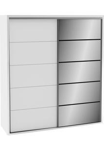 Guarda-Roupa 2 Portas De Correr Tw101E Bb Branco Brilho Espelho - Dalla Costa