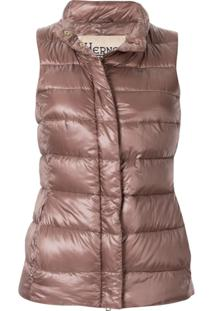 Herno Padded Zipped Vest - Marrom