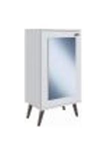 Sapateira Multiuso 01 Porta Com Espelho Sp060 Branco Completa Moveis