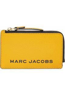 Marc Jacobs Carteira The Bold Com Zíper - Amarelo