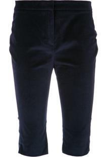 A.Brand Bermuda Skinny De Veludo - Azul