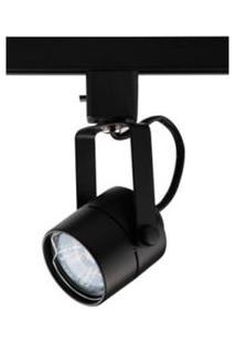 Spot Para Trilhos De Sobrepor Para 1 Lâmpada 60W Preto Auremar