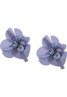 Mignonne Gavigan Par De Brincos Floral - Azul