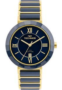 25cec92ed8223 R  699,90. Zattini Relógio Azul Dourado Feminino Technos ...