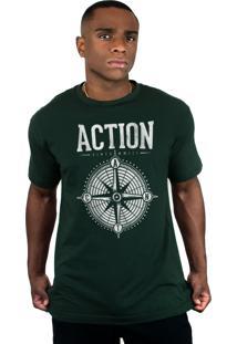 Camiseta Action Clothing Compass Musgo