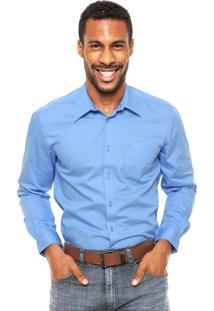 Camisa Forum Bolso Azul