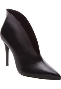 Ankle Boot Lisa Em Couro- Preta- Salto: 10,5Cmarezzo & Co.