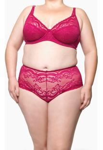 Calcinha De Renda Plus Size Tanga Black Marmaris Roxa Underwear Calvin Klein - 1Xl