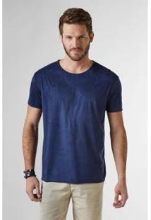 Camiseta Suede Reserva Masculina - Masculino-Marinho