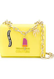 Versace Jeans Couture Charms Shoulder Bag - Amarelo