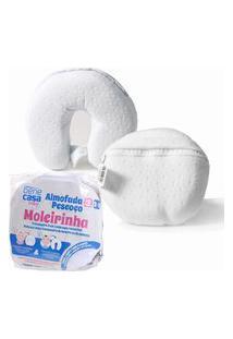 Almofada 2X1 Com Tratamento Íons Prata Almofada E Protetor De Pescoço Com Capa Removível E Lavável Branco - Bene Casa