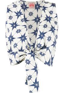 Le Sirenuse Blusa Cropped Com Detalhe De Nó - Branco