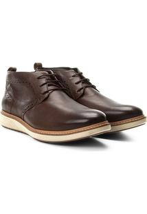 Sapato Social Couro Democrata Metropolitan Masculino - Masculino-Marrom