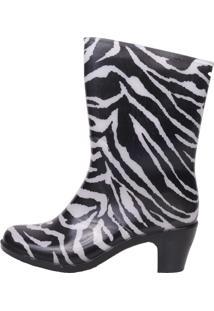 Galocha Gasf Cano Médio Salto Zebra