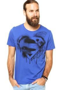 Camiseta Fashion Comics Estampada Azul
