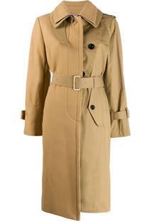 Sacai Belted Trench Coat - Neutro
