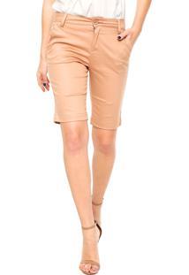 Bermuda Calvin Klein Jeans Reta Bege