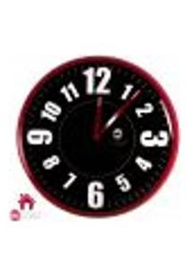 Relógio De Parede Vermelho E Preto