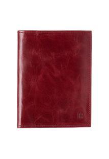 Carteira Porta Documentos Vermelha Em Couro - Amora 103
