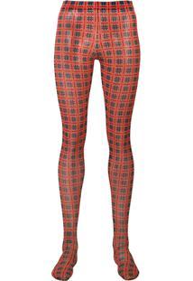 Versace Printed Leggings - Vermelho