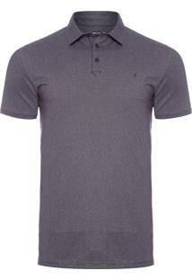 Polo Masculina French Terry - Cinza