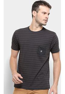 Camiseta O'Neill Dinsmore Masculina - Masculino-Cinza+Preto