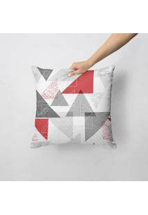 Capa De Almofada Avulsa Decorativa Triângulos Abstratos 45X45Cm