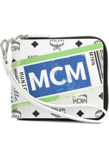 Mcm Carteira Com Logo - Branco