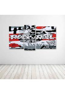 Quadro Decorativo - Rock'N Roll (3) - Composto De 5 Quadros