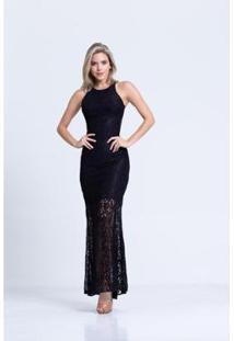 0e0afc425f Vestido Longo Transparente feminino