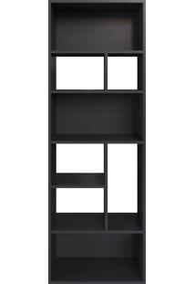 Estante Multiuso 160Cm Modern Office 8 Nichos Preto Estilare