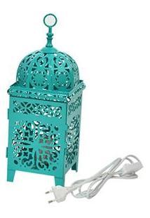 Luminária Marroquina Urban Flor Em Metal Bivolt - Verde