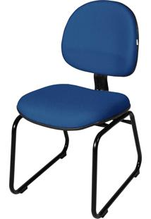 Cadeira Executiva Base Trapã©Zio S/ Braã§O Azul - Azul - Dafiti