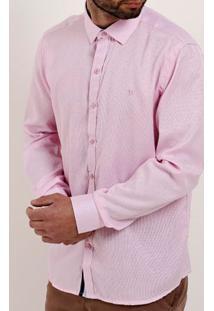 Camisa Manga Longa Masculina Bivik Rosa