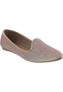 Slipper Liberte Lurex Rose Rose