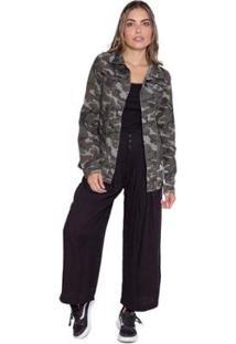 Jaqueta Le Julie Max Camuflada Feminina - Feminino-Verde Militar