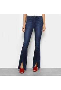 54e885c3c ... Calça Jeans Flare Forum Com Fenda Feminina - Feminino-Jeans