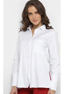 Camisa Maria Filó Manga Longa Feminina - Feminino-Branco