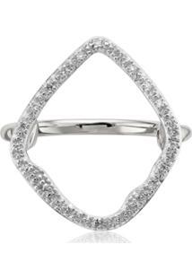 Monica Vinader Riva Hoop Diamond Cocktail Ring - Prateado