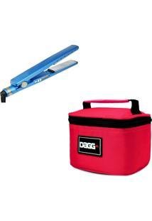 Necessaire Dagg Kit Chapinha Prancha Profissional Azul E Necessaire Vermelha