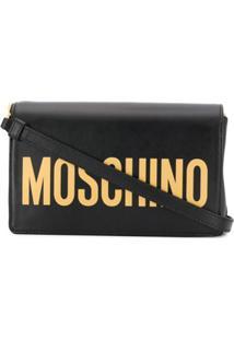 Moschino Bolsa Tiracolo Com Logo - Preto