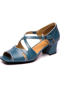 Sandália Mzq Brigitte Azul Riverside / Prata Velho 5385