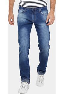 Calça Jeans Colcci Alex Indigo Estonada Masculina - Masculino