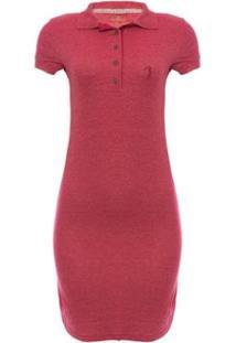 Vestido Piquet Molinet Shine Aleatory - Feminino-Vermelho